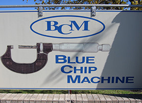 Blue Chip Machine's Shop Signage